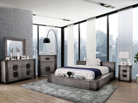 Janeiro Modern Bedroom Set in Light Rustic Gray
