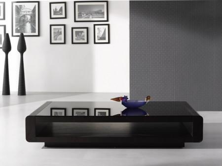 Solid Wood Modern Dark Oak Finish Coffee Table 673