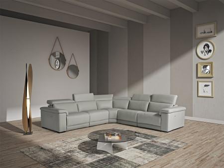 Estro Salotti Palinuro Reclining Sectional Sofa in Grey