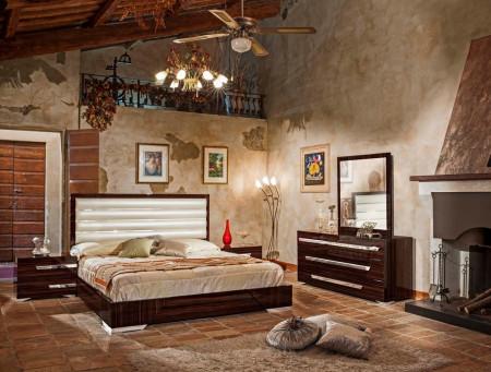 Modrest Romano Italian Ebony Lacquer Bedroom Set