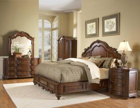 1390LP Prenzo Bedroom Set in Brown Finish by Homelegance
