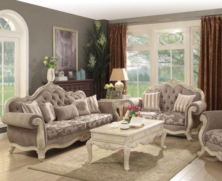 Ragenardus Living Room Set in Vintage Oak Fabric