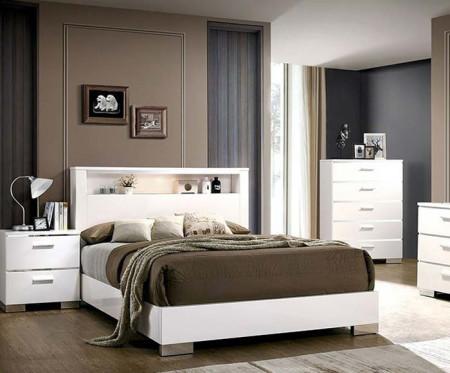 Malte Modern Bedroom Set in White