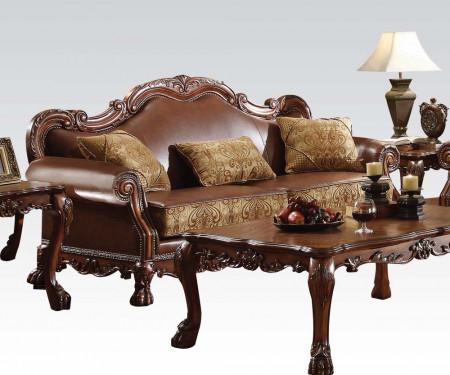 Dresden Living Room Set in Cherry Oak Finish