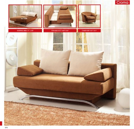 Croma Brown Modern Queen Sofa Bed Storage Sleeper