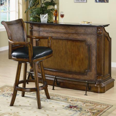 100173 Coaster Furniture Clarendon Marble Top Home Bar