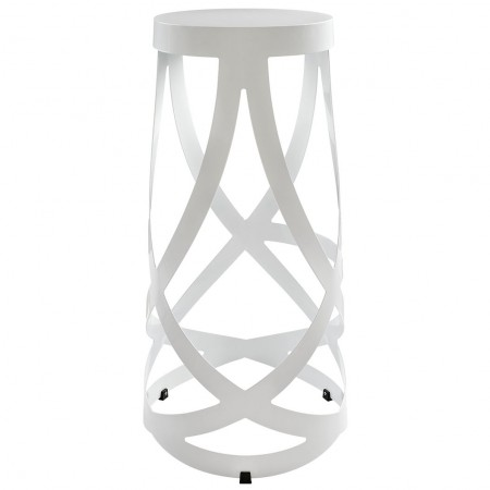 EEI-1017 Ribbon White Modern Bar Stool