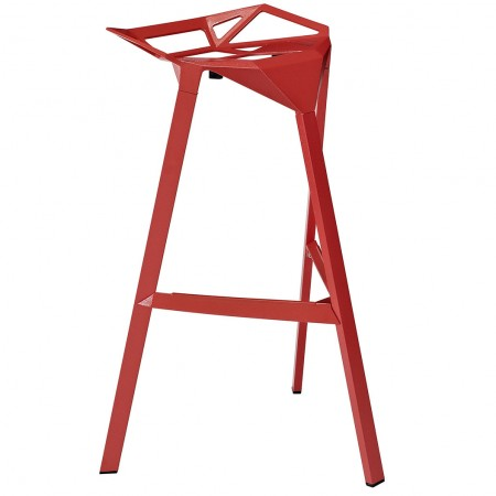 EEI-1024 Launch Modern Stacking Red Bar Stool