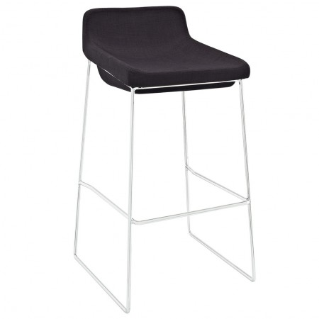 Garner Modern Bar Stool Black Fabric Seat