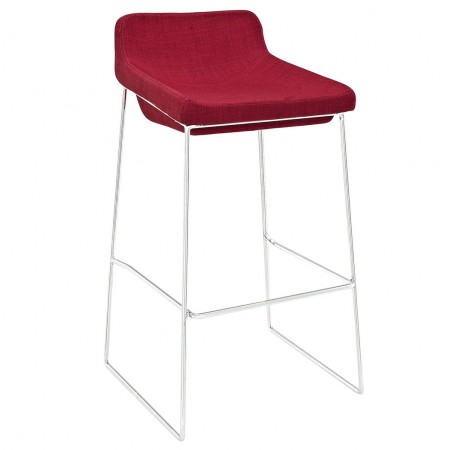 EEI-1029 Garner Red Fabric Seat Bar Stool
