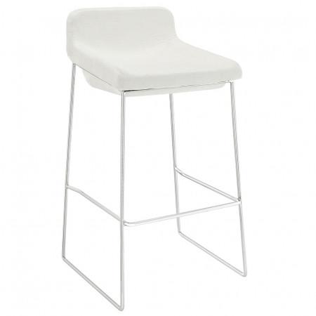 EEI-1029 Garner White Fabric Seat Bar Stool