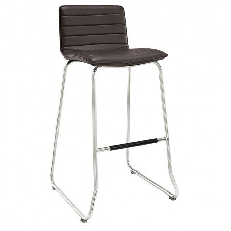 EEI-1030 Dive Brown Upholstered Bar Stool