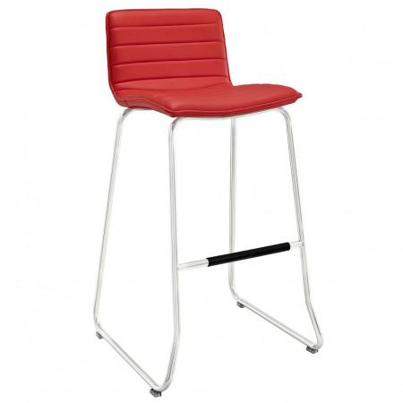 EEI-1030 Dive Red Upholstered Modern Bar Stool