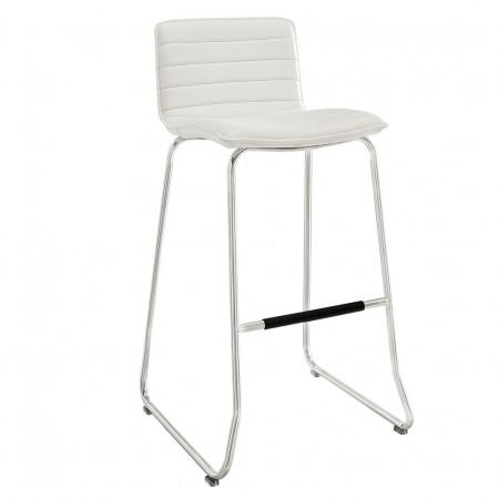 EEI-1030 Dive White Upholstered Bar Stool