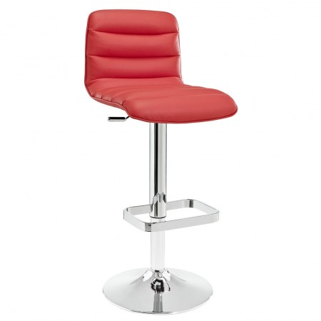 Ripple Upholstered Bar Stool in Red - Set of 2