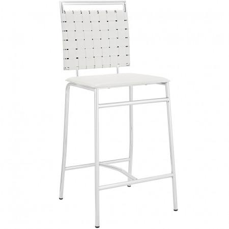 EEI-11008 Fuse Modern White Bar Stool