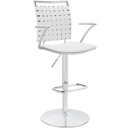 Fuse Modern White Bar Stools with Arms