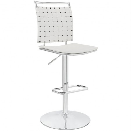 Fuse Armless Adjustable Bar Stools in White