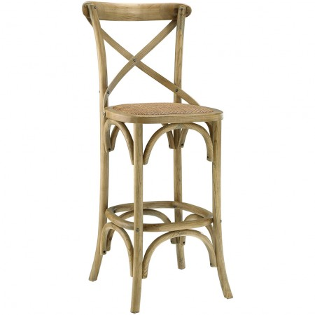 Gear Classic Wood Bar Stools in Natural Finish