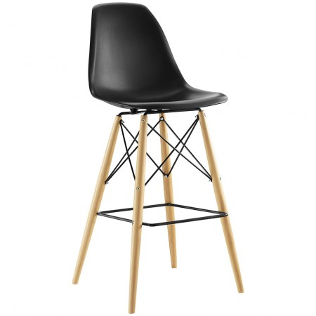 Pyramid Contemporary Bar Stools in Black