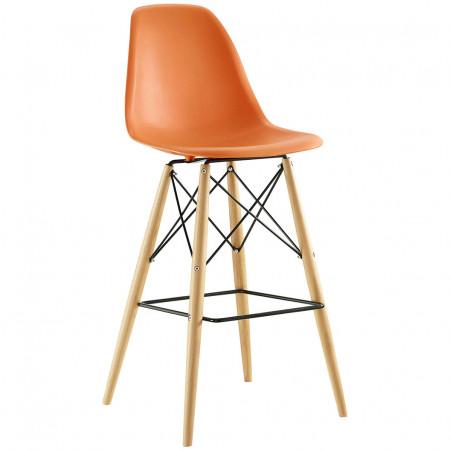 Pyramid Contemporary Bar Stools in Orange Color