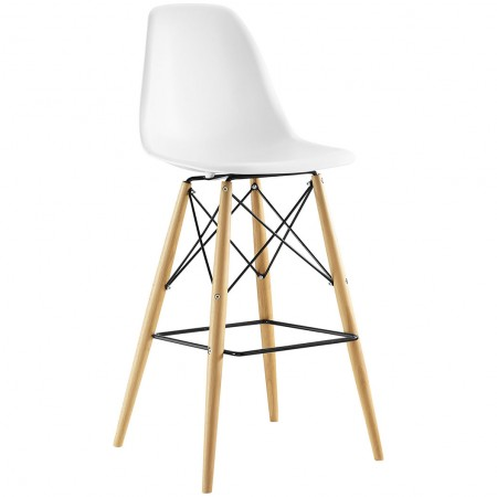 Pyramid Contemporary Bar Stools in White Color