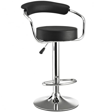 EEI-192 Diner Modern Black Bar Stool