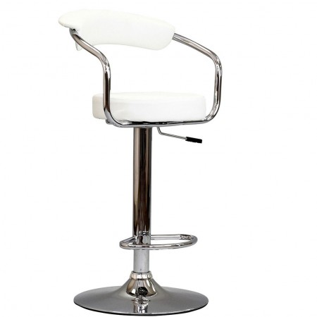 EEI-192 Diner Modern White Bar Stool