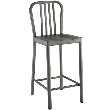 Clink Silver Finish Counter Stools - Set of 2