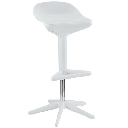 EEI-218 Flare Modern White Bar Stool
