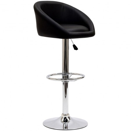 EEI-583 Marshmallow Black Modern Bar Stool