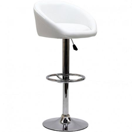 EEI-583 Marshmallow White Modern Bar Stool