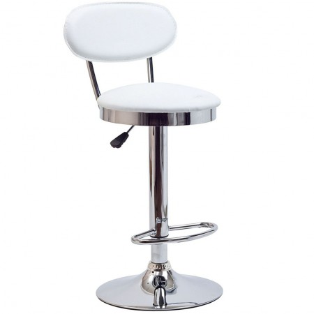 EEI-636 Retro White Modern Bar Stool