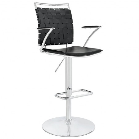 Fuse Modern Black Bar Stools with Arms