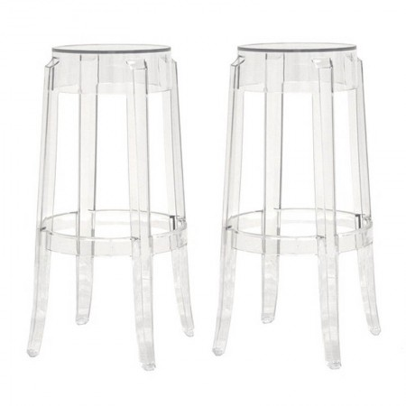 PC-502A Bettino Modern Acrylic Bar Stool Set of 2