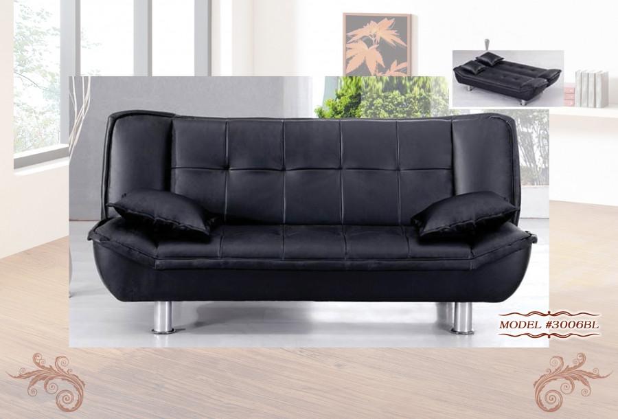 3006bl Modern Sofa Bed Sleeper In Black