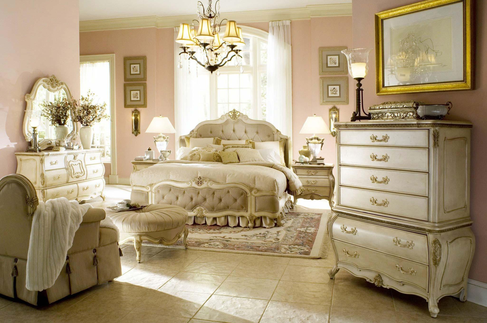 AICO Furniture Lavelle Bedroom Set in Blanc Finish
