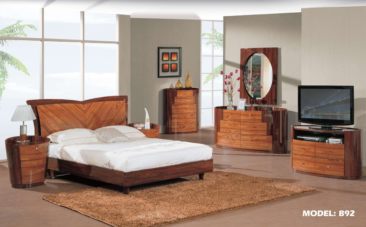 New York Two Tone Modern Bedroom Set By Global Furniture