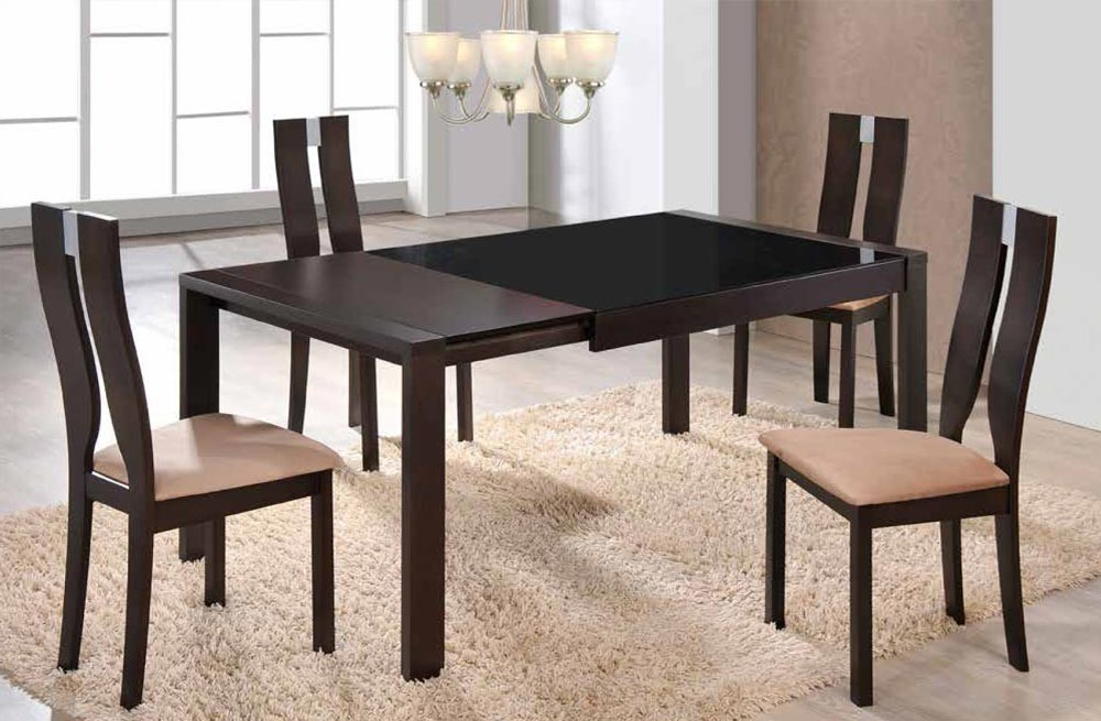 d6601dt modern dining room set with expandable table