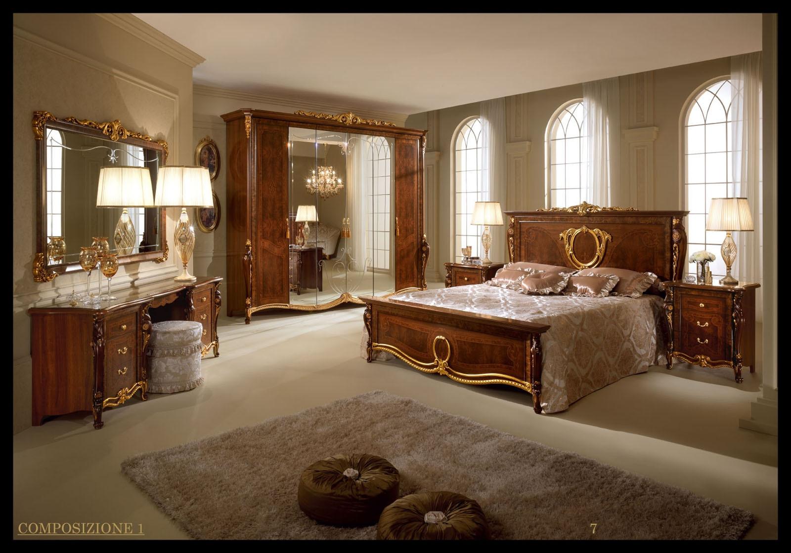 ... Bedroom Set In Walnut Finish Donatello Vanity Dresser And Pouf ...