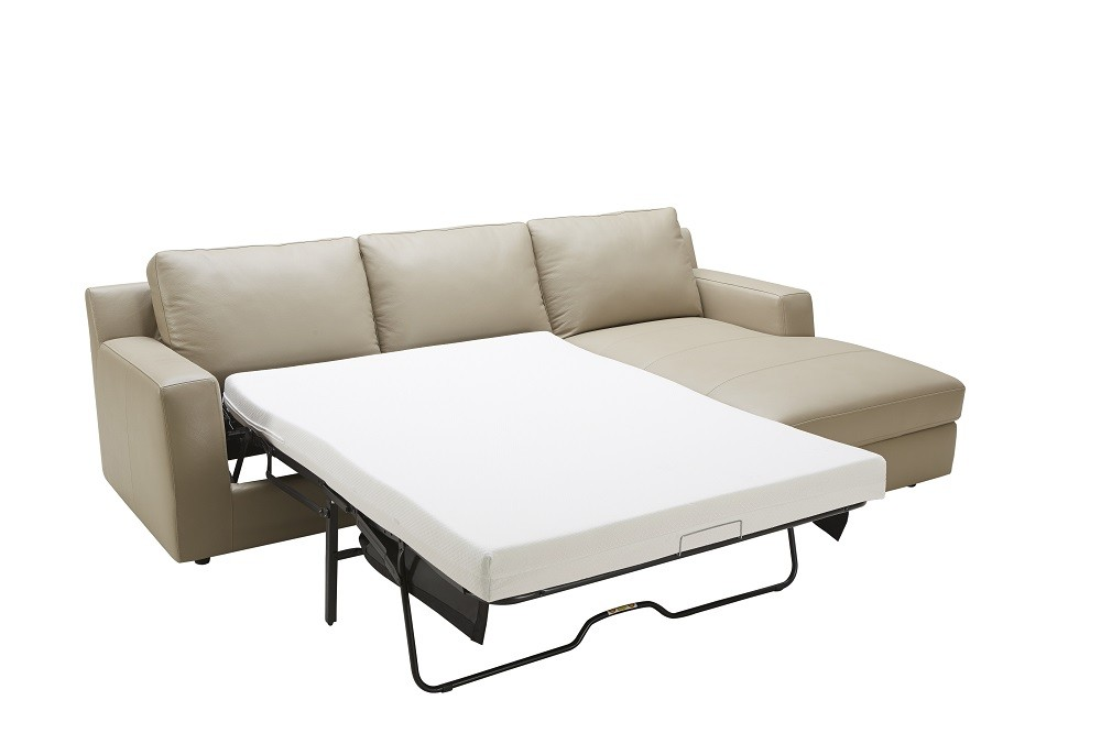 Awesome Jenny Sectional Sofa Bed In Beige Italian Leather Gmtry Best Dining Table And Chair Ideas Images Gmtryco