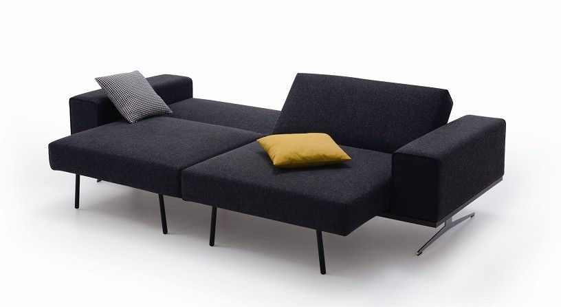 K56 Fabric Modern Long Comfortable Sofa Bed with Pillows