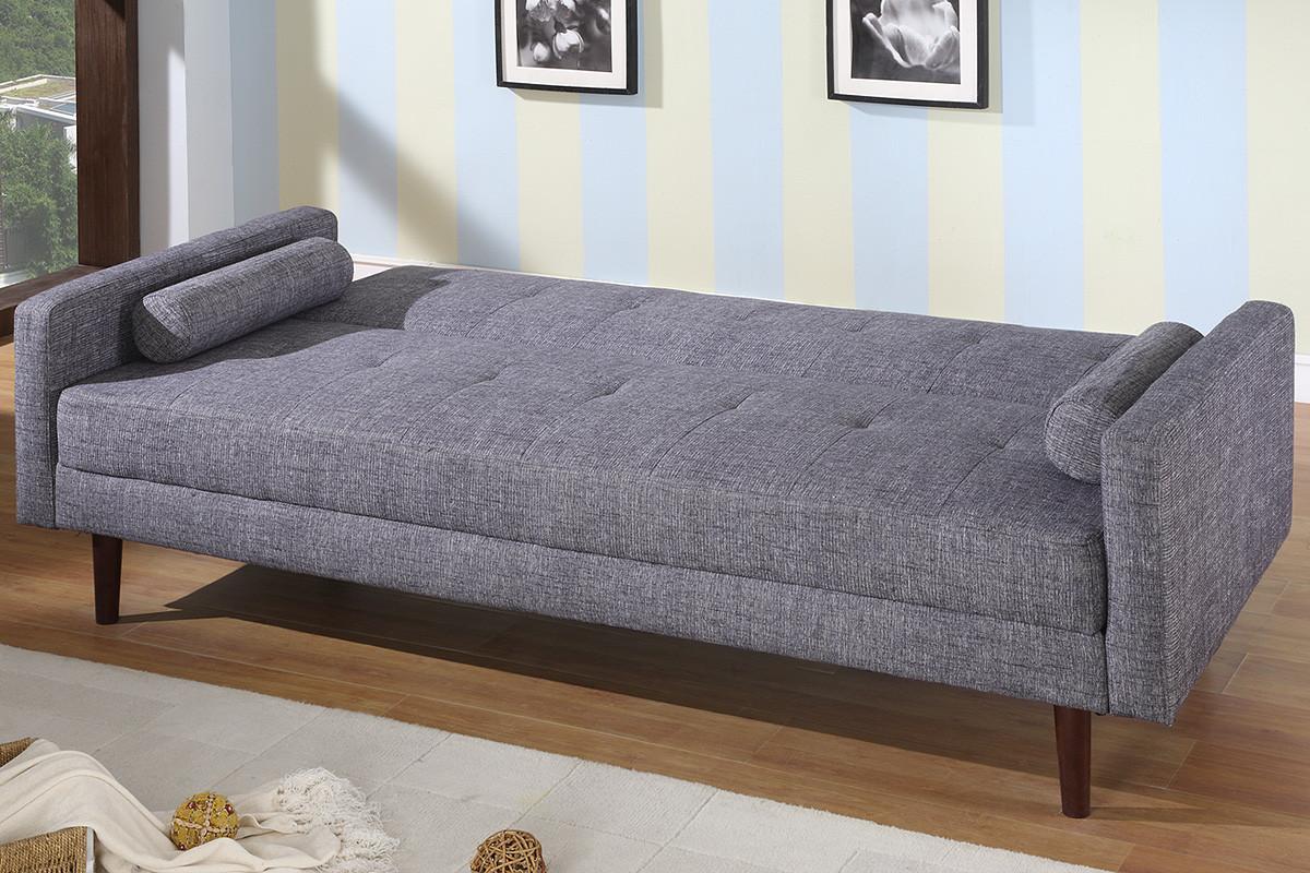 KK18 Modern Sofa Bed Sleeper in Grey Fabric
