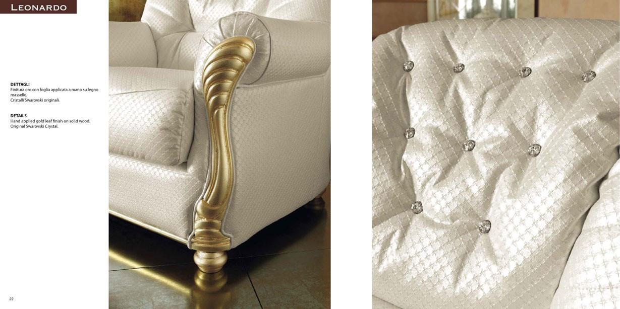 Esf Leonardo Italian Living Room Set With Swarovski Crystals