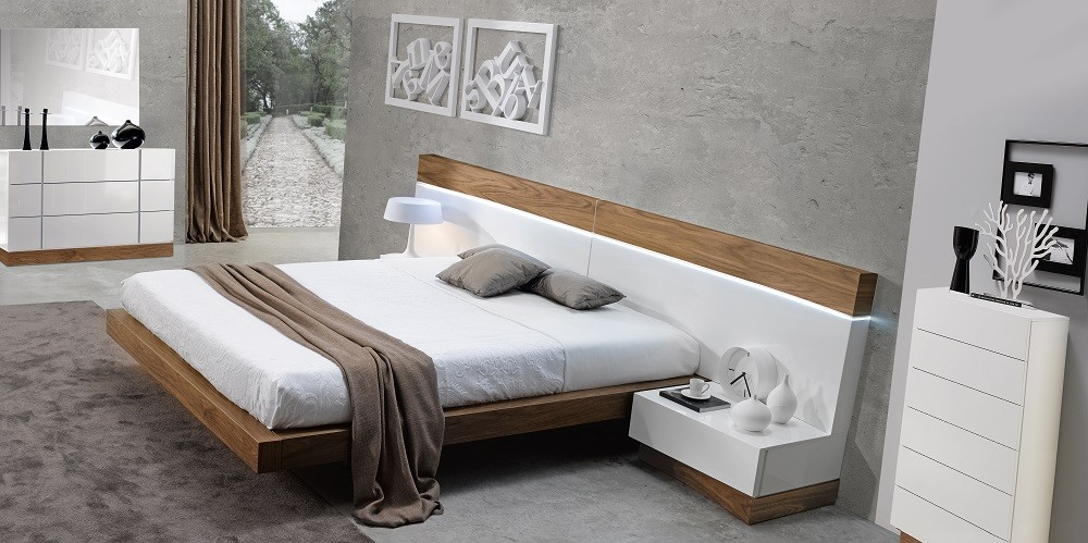 White Wood Madrid Modern Bedroom Set By J M Furniture
