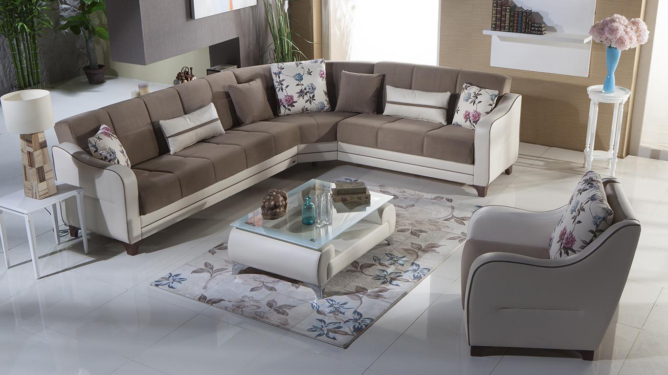 Nepal Estel Vizon Sectional Sofa Bed Istikbal Furniture