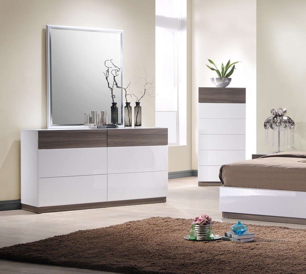 J M Sanremo A Bedroom Set In Two Tone Finish Dresser And Mirror