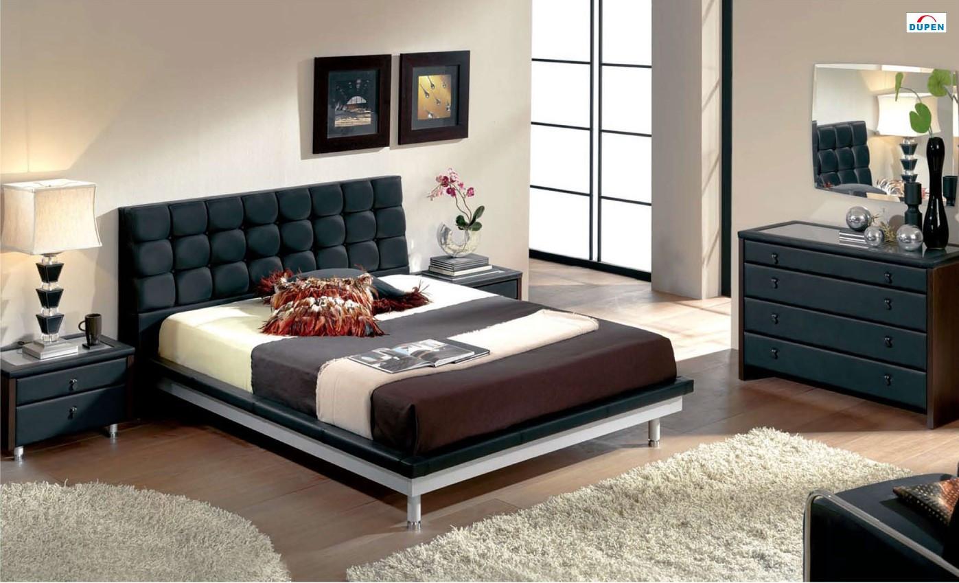 603 toledo modern bedroom set in black finish