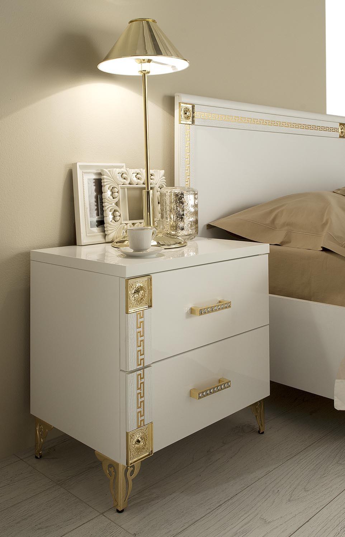 ESF Venice Italian White Bedroom Set with Gold Design