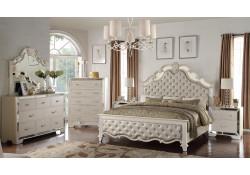 Cosmos Sonia Bedroom Set in Silver Finish